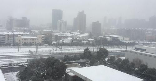 Tuyết lại rơi dày ở Thường Châu trước thềm chung kết U23 châu Á - 1