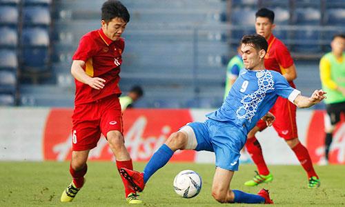 Trong lần chạm trán gần nhất, Uzbekistan đánh bại Việt Nam với tỷ số 2-1 ở giải M-150. Ảnh: Anh Khoa.