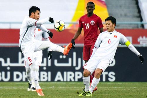 Đức Huy (số 8) cùng Xuân Trường đá trọn 5 trận đã qua của U23 Việt Nam. Ảnh: Anh Khoa