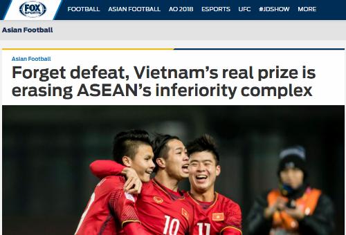 """Fox Sports: """"Việt Nam xoá đi sự yếm thế của bóng đá Đông Nam Á"""""""