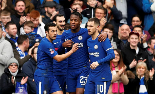 Chelsea chơi phản công sắc bén trong hiệp một. Ảnh: Reuters.