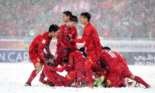 U23 Việt Nam đi vào lịch sử với tấm HC bạc gải U23 châu Á. Ảnh: AFC