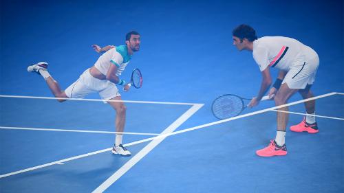 Cilic góp phần tạo nên trận chung kết kịch tính đến phút cuối. Ảnh: Tennis Australia.