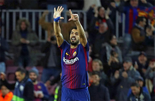 Đẳng cấp của Suarez và Messi giúp Barca ngược dòng.