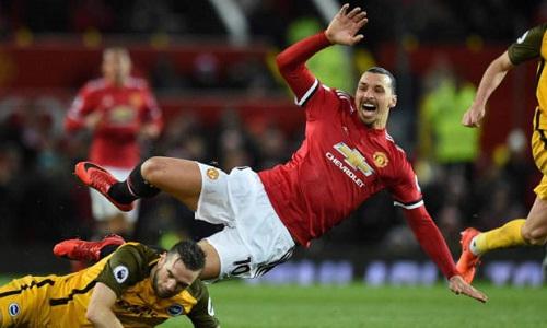 Ibrahimovic chưa đóng góp nhiều cho Man Utd ở mùa này. Ảnh: AFP.