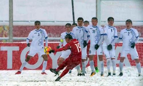 Siêu phẩm của Quang Hải là bàn đẹp nhất giải U23 châu Á 2018