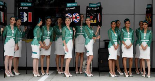 Sẽ không còn người mẫu các con phố đua ở F1 mùa 2018. Ảnh: AFP.