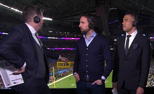 Southgate ở khu bình luận của BBC. Ảnh: BBC.