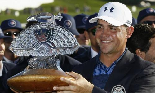 Gary Woodland đoạt danh hiệu PGA Tour Thứ nhất kể từ năm 2013. Anh đã có ba danh hiệu PGA Tour trong sự nghiệp. Ảnh: Reuters.