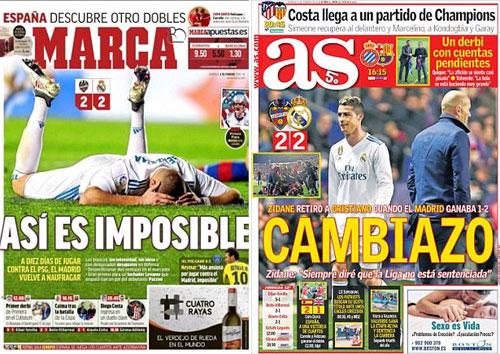 Marca và AS dùng lời phê phán tiêu cực đối có Real.