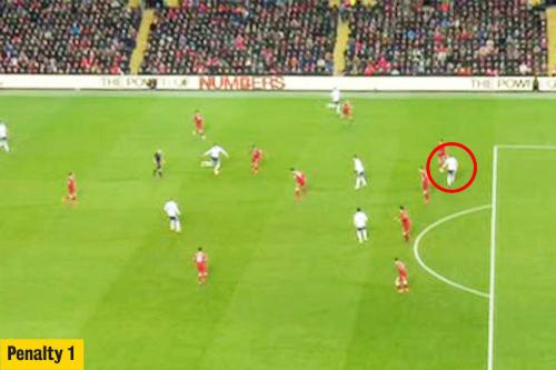 Kane đã ở thế việt vị khi Alli chuyền bóng. Nhưng Lovren đã chủ đích chạm bóng trước khi nó đến chân Kane, giúp anh thoát bẫy việt vị.