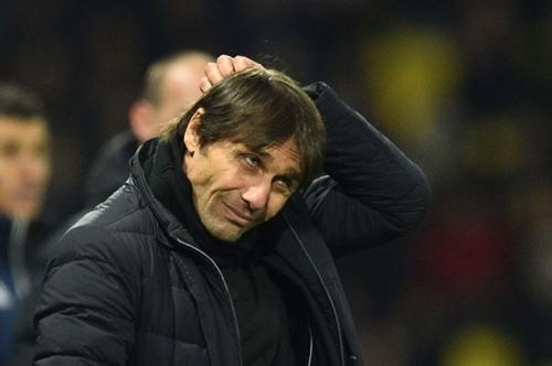 Conte rất dễ bị sa thải sau trận thua Watford. Ảnh: PA.