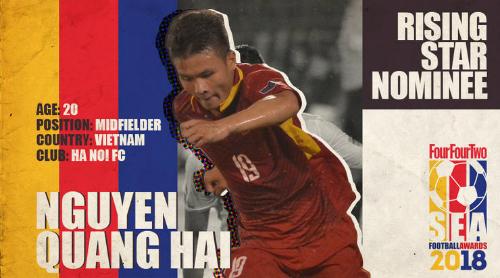 Quang Hải đã vô địch V.League, á quân U23 châu Á 2018 và hạng ba U19 châu Á 2016. Ảnh: FFT.
