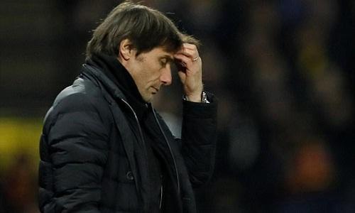 Conte đứng trước nguy cơ mất việc khi chỉ giành hai chiến thắng trong 10 trận gần nhất. Ảnh: Reuters.
