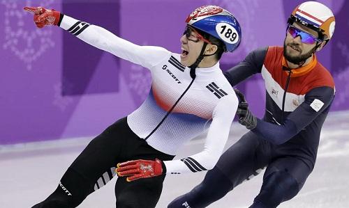 Hyojun Lim mang về HC vàng đầu tiên cho chủ nhà Hàn Quốc. Ảnh: Reuters.