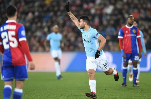 Aguero ghi bàn thắng thứ 29 cho Man City ở mùa giải này. Ảnh: AFP.