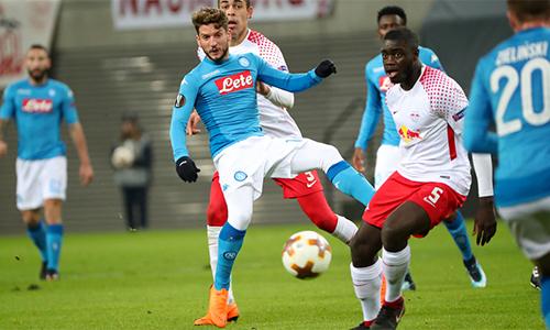 Napoli không thể đảo ngược tình thế sau khi thua 1-3 trên sân nhà từ trận lượt đi. Ảnh: Photo Moscow.