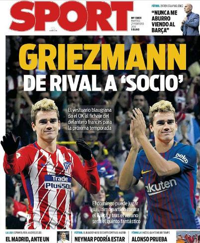 Cầu thủ Barca ủng hộ kế hoạch mua Griezmann