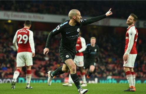 Man City đang có mùa giải áp đảo bậc nhất lịch sử Ngoại hạng Anh. Ảnh:AFP.