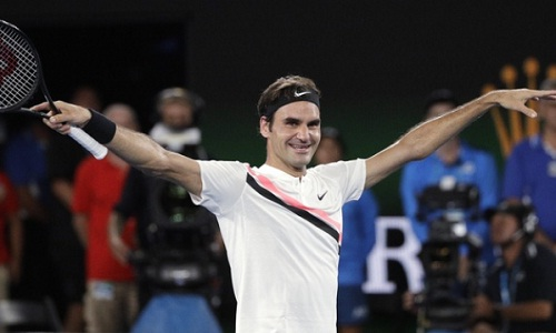 Federer chăm chỉ tham dự các sự kiện từ thiện. Ảnh: AP.
