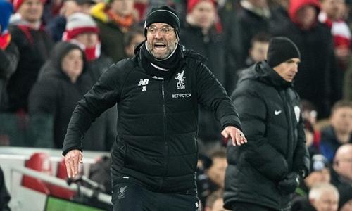 Klopp phấn khích vì lối chơi của Liverpool. Ảnh: PA.