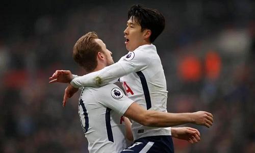 Son và Kane tiếp tục thể hiện sự ăn ý với nhau trên hàng công Tottenham. Ảnh: Reuters.