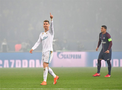 Ronaldo và đồng đội thắng PSG trong cả hai lượt đấu. Ảnh: Reuters
