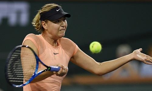 Sharapova bị loại ngay vòng một Indian Wells
