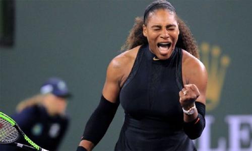 Serena trở lại suôn sẻ với chiến thắng ở vòng mộtIndian Wells. Ảnh: AP.