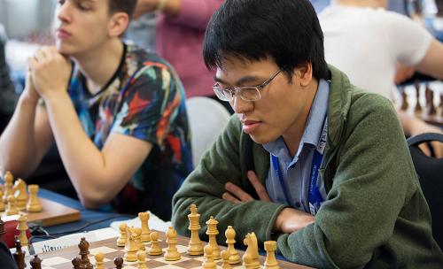 Quang Liêm vừa thi đấu thành công ở giải cờ Gibraltar, bằng điểm nhà vô địch. Ảnh: GCF.