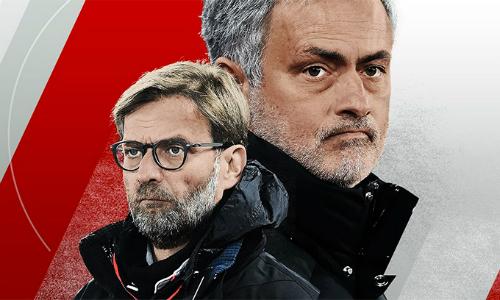 Sự đối lập đến tương phản giữa Klopp với Mourinho bổ sung thêm một nét đẹp cho Ngoại hạng Anh. Ảnh: ESPN.