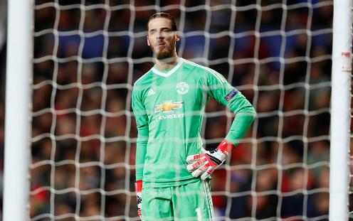 De Gea không thể cứu Man Utd như ở lượt đi. Ảnh: Reuters.