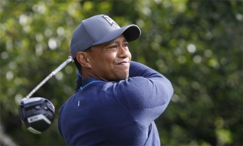 Tiger Woods được nhiều người đặt cửa vô địch Masters sau những màn trình diễn cảm xúc gần đây. Ảnh: AP.