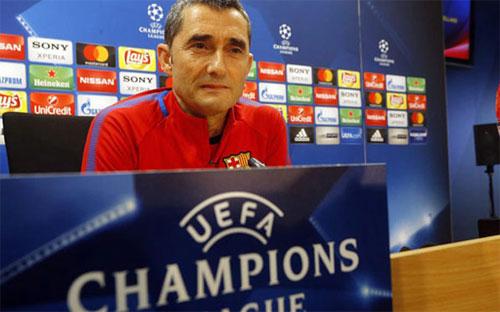 Valverde luôn có sự thận trọng trước những đối thủ lớn. Ảnh: Reuters