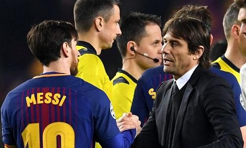 """Conte: """"Hãy ca ngợi Messi khi có cơ hội"""""""