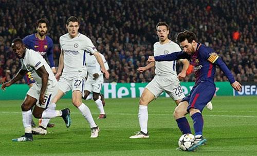 Messi tỏa sáng ở những thời khắc quyết định trận lượt về. Ảnh: Reuters
