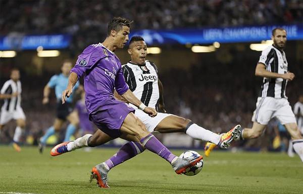 Ronaldo đã ghi bảy bàn trong năm lần đối đầu Juventus. Ảnh: AFP.