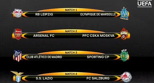 Kết quả bốc thăm vòng tứ kết Europa League. Ảnh: UEFA.