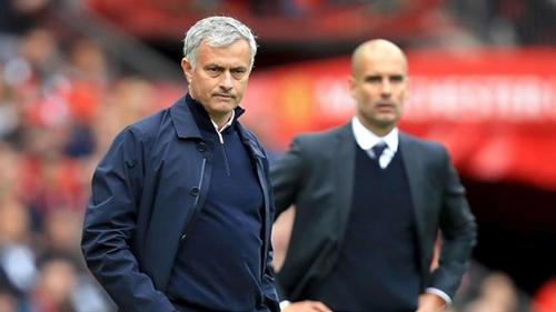 Mourinho chưa thắng Guardiola lần nào tại Ngoại hạng Anh. Ảnh: PA.