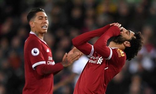Salah luôn dứt điểm rất nhiều trong mỗi trận đấu. Ảnh: PA.