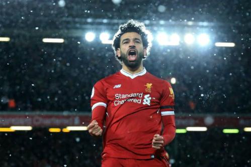 Salah trên đường ghi dấu ấn trong lịch sử Liverpool ngay ở mùa đầu tiên. Ảnh: AFP.