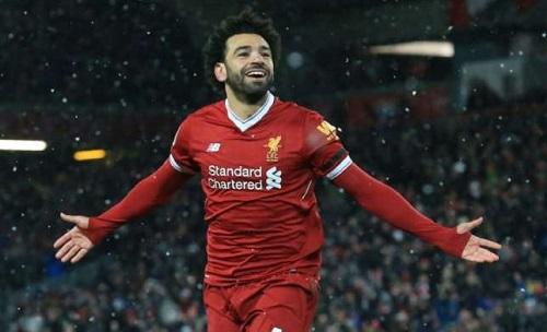 Salah có thể tranh Quả Bóng Vàng 2018 với Ronaldo và Messi. Ảnh: AFP.