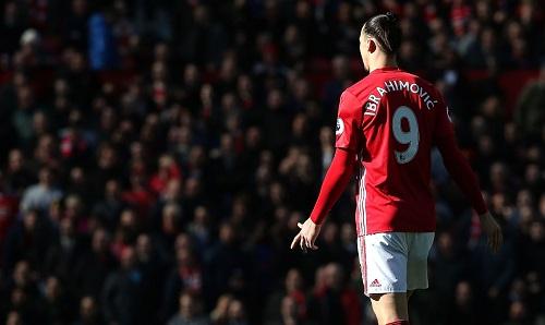 Ibrahimovic rời Man Utd sau gần hai năm gắn bó. Ảnh: ManUtd.