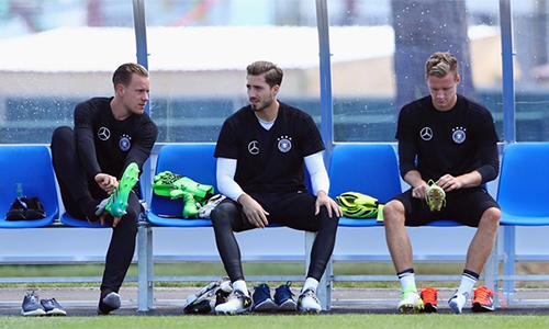Với Marc-Andre ter Stegen, Kevin Trapp và Bernd Leno, tuyển Đức không thiếu các phương án chất lượng để thay thế, một khi Neuer không đủ điều kiện dự World Cup 2018. Ảnh: FIFA.
