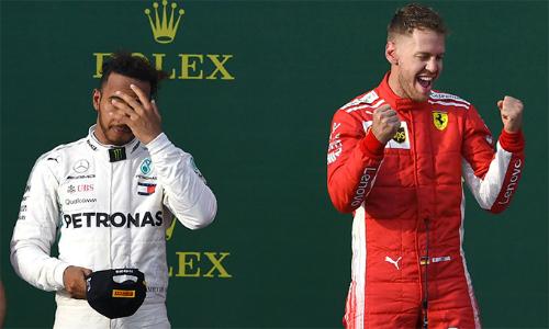 Vettel đánh bại Hamilton, về nhất chặng mở màn F1 2018