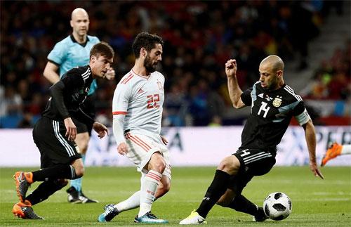 Messi lại vắng mặt, Argentina thua 1-6 khi gặp Tây Ban Nha
