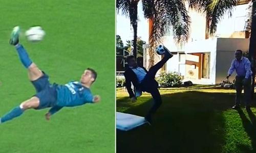 Phóng viên gãy chân, nhập viện vì bắt chước Ronaldo - ảnh 1