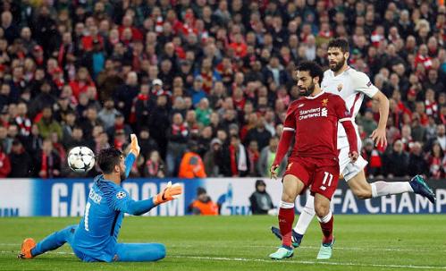 Salah ghi bàn thắng thứ 43 trong mùa giải năm nay. Ảnh: Reuters.