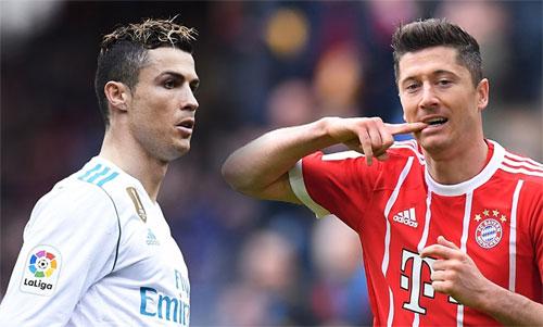 Ronaldo và Lewandowski sẽ so tài về khả năng dứt điểm trong hai trận bán kết.