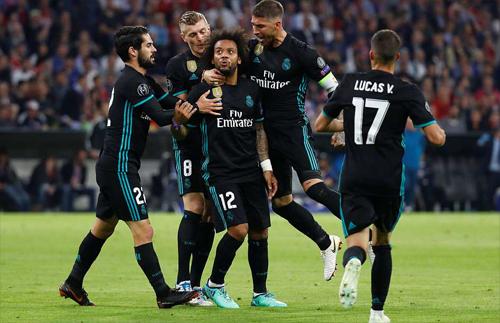 Pha làm bàn của Marcelo chính là bước ngoặt của trận đấu. Ảnh: Reuters.